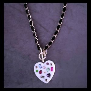 Betsey johnson rare and retired heart necklace